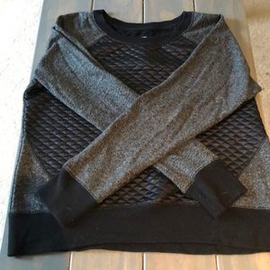 Grey and black sweater